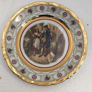 πιάτο παλιά γαλλική πορσελάνη