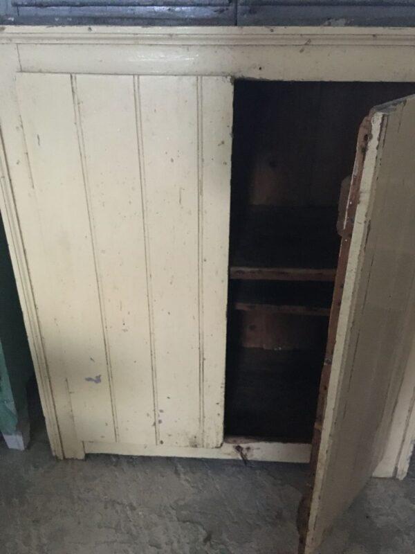 Ντουλάπι παντοπωλείου, παλιό ελληνικό ξύλινο δίφυλλο vintage