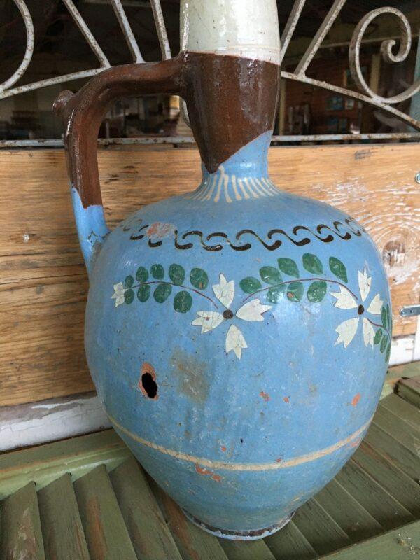Παλιό ελληνικό κεραμικό σταμνάκι, στάμνα από τα νησιά