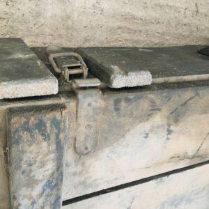 Ξύλινο κουτί στρατού, αυθεντικό του 1960, vintage