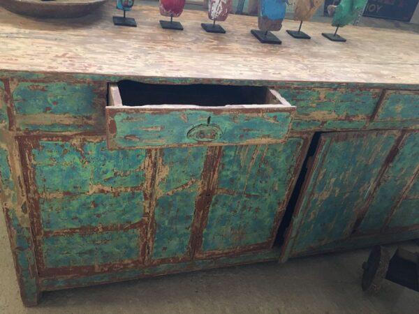 Μπουφέ, παλιό ελληνικό ξύλινο έπιπλο ντουλάπι vintage