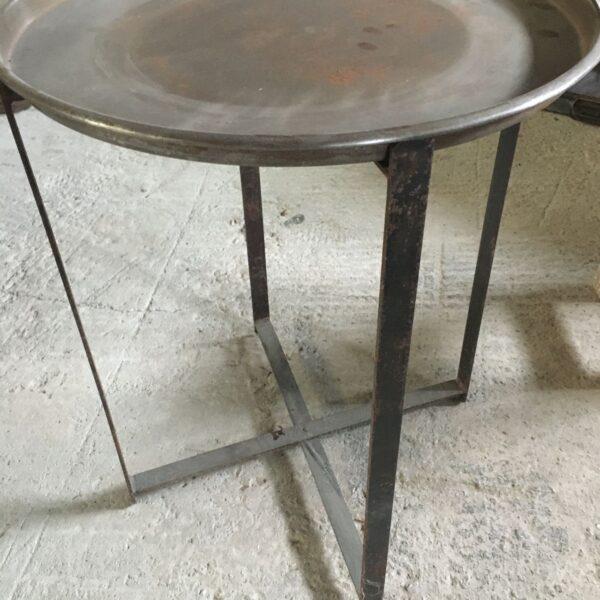 Τραπεζάκι καφενείου, παλιό χάλκινο με αποσπώμενο δίσκο σερβιρίσματος