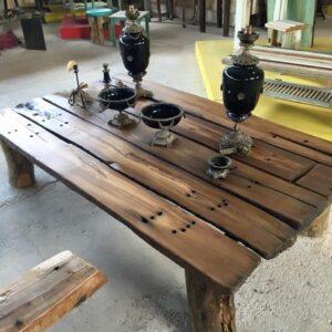 Coffee table, τραπέζι σαλονιού από παλιά ξυλεία πολύ μακρύ