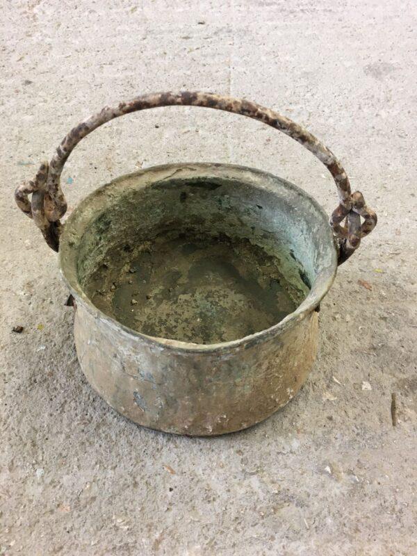Καζάνι, παλιό ελληνικό χάλκινο καζάνι με χέρι