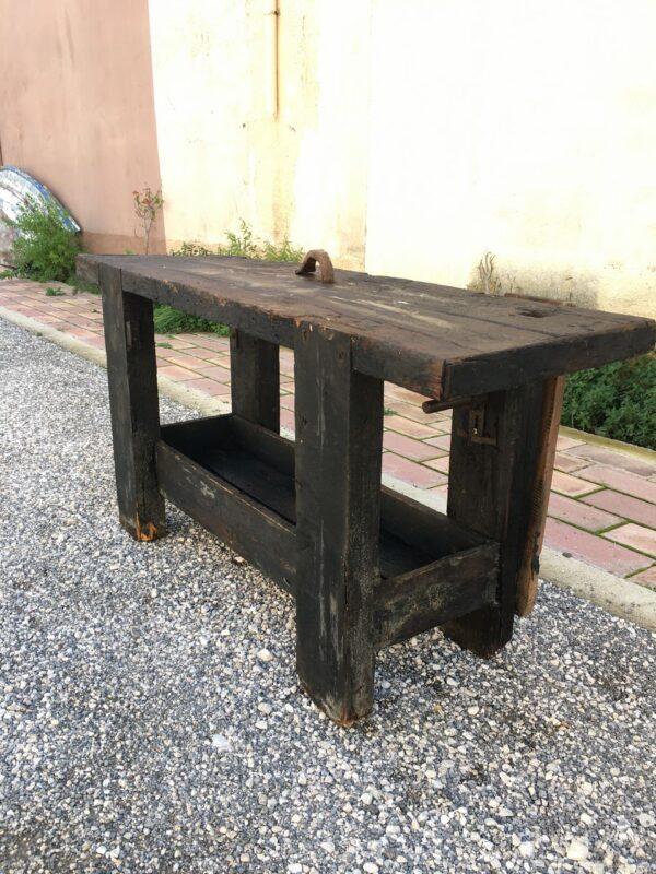 Πάγκος εργασίας ξυλουργού παλιό ξύλινο έπιπλο
