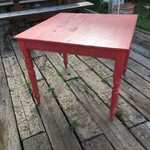 Τραπέζι φαγητού, παλιό ξύλινο τετράγωνο τραπέζι