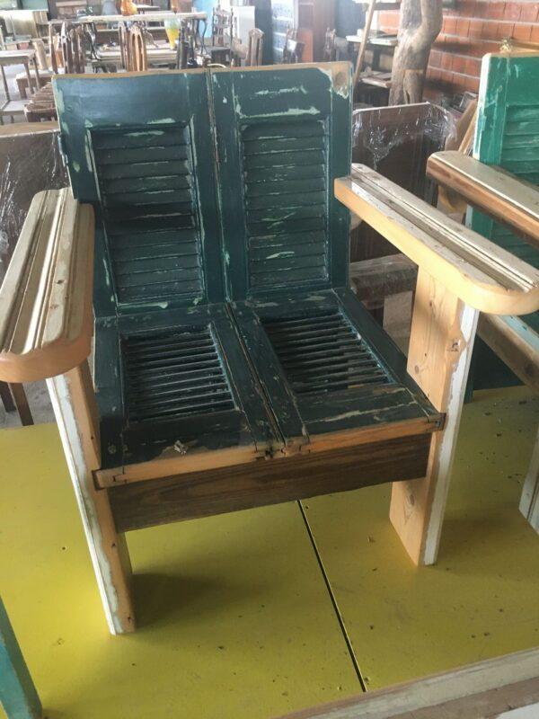 armchair greek old wood shutters